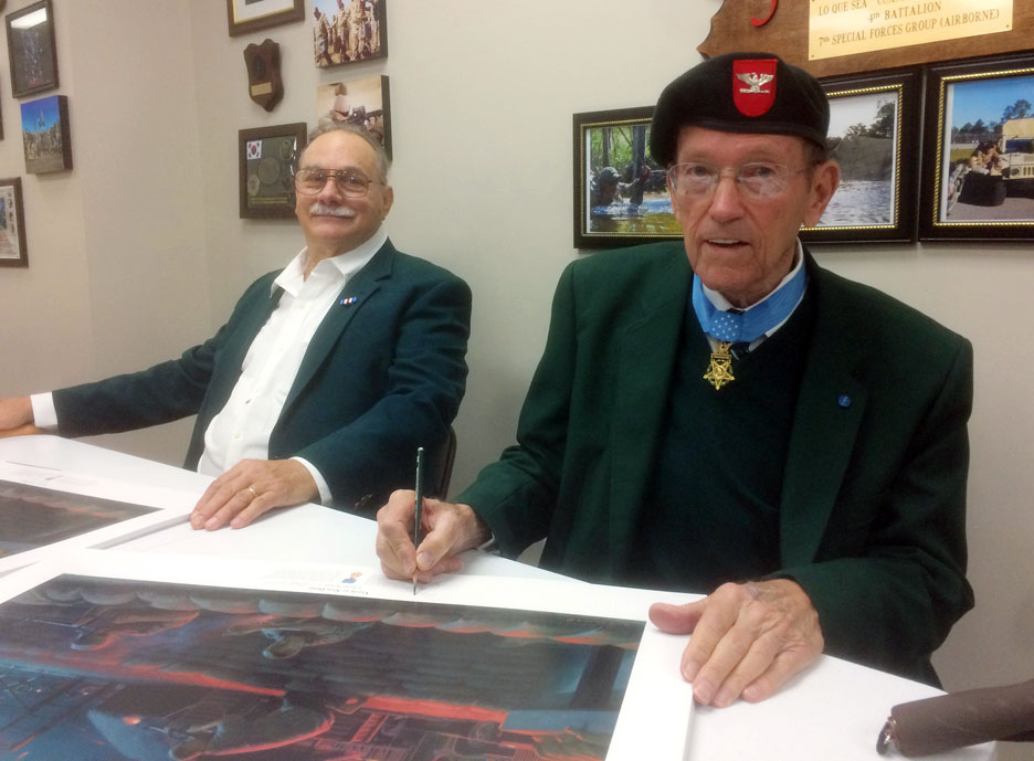 Mike Disser and Roger Donlon Signing